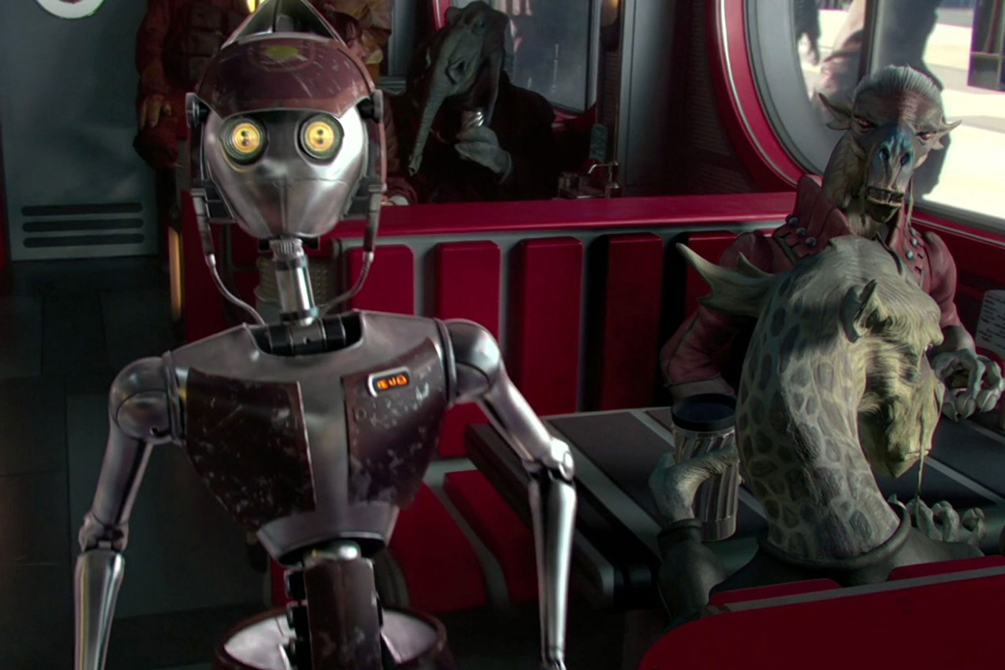 15. WA-7 waitress droid (Attack of the Clones)