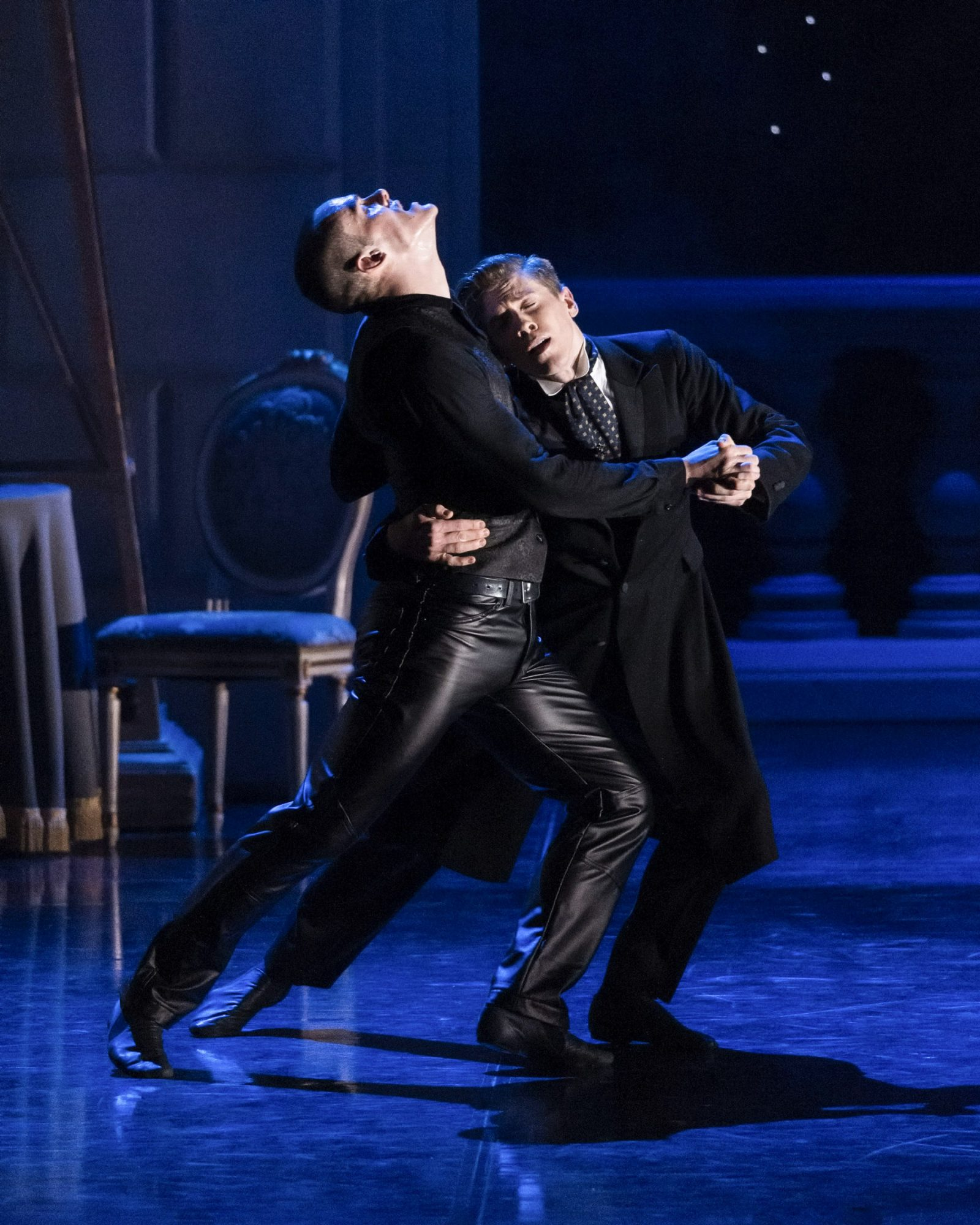 """L-R: Will Bozier and Andrew Monaghan in Matthew Bourne's """"Sw"""