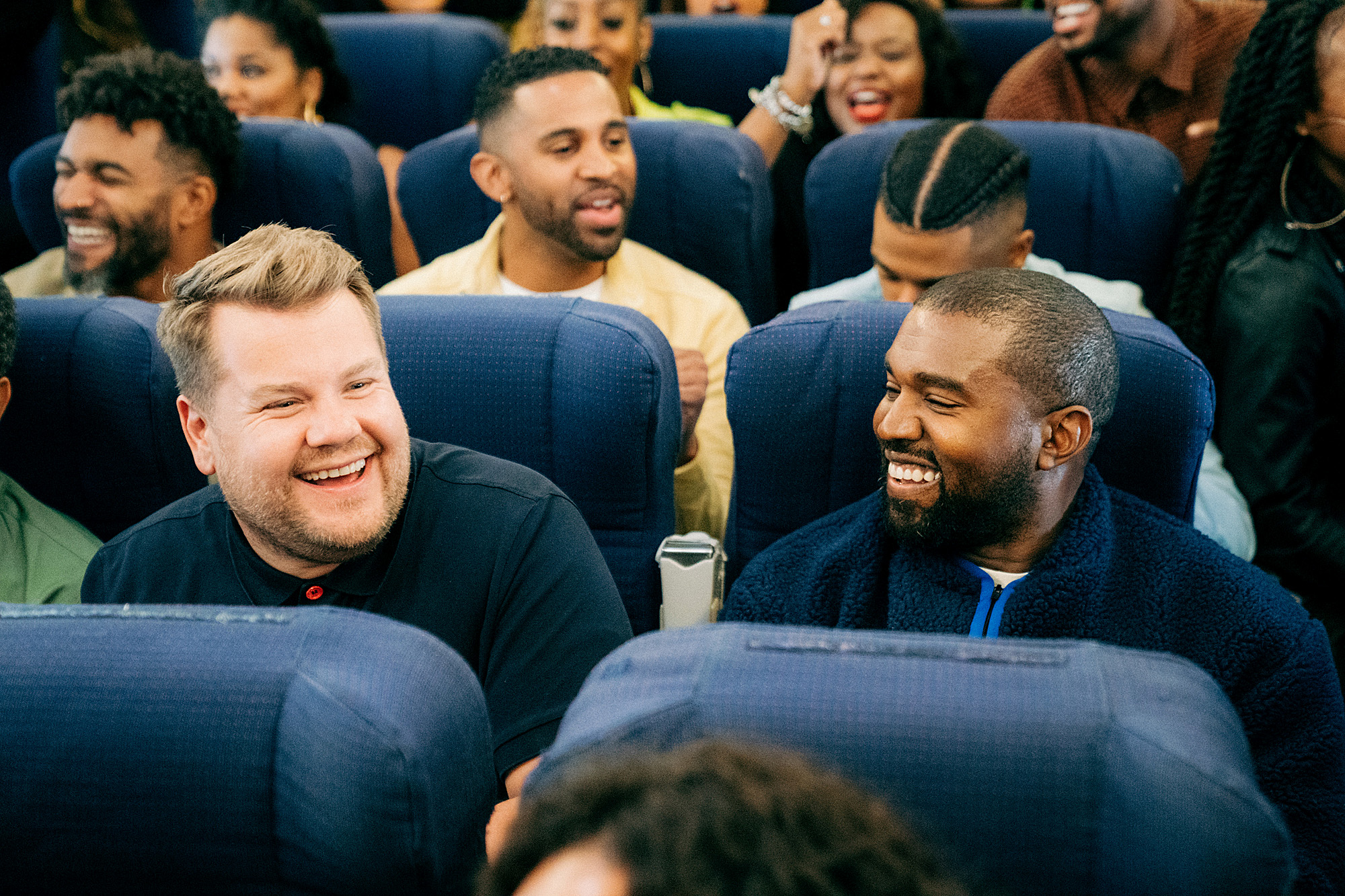 James Corden; Kanye West