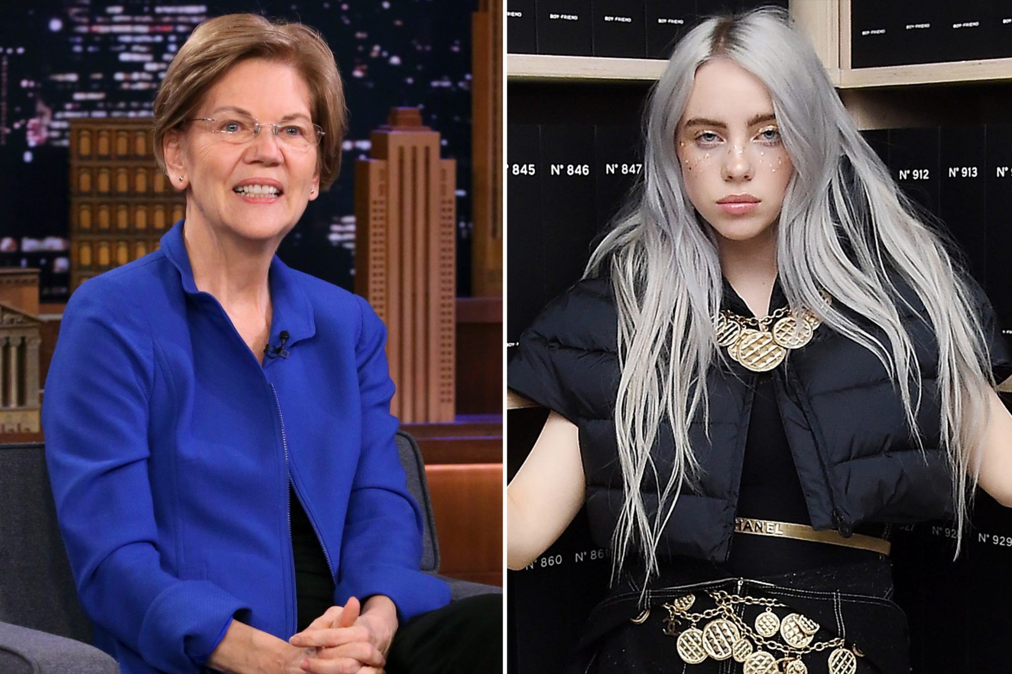 elizabeth-warren-billie-eilish