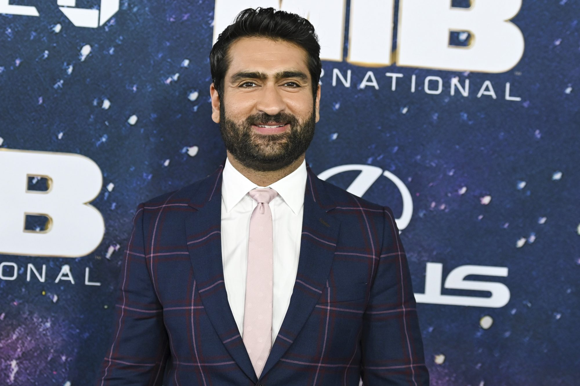 "US-Pakistani actor Kumail Nanjiani attends the ""Men In Black: International"" premiere at AMC Lincoln Square on June 11, 2019 in New York City. (Photo by Angela Weiss / AFP) (Photo credit should read ANGELA WEISS/AFP/Getty Images)"
