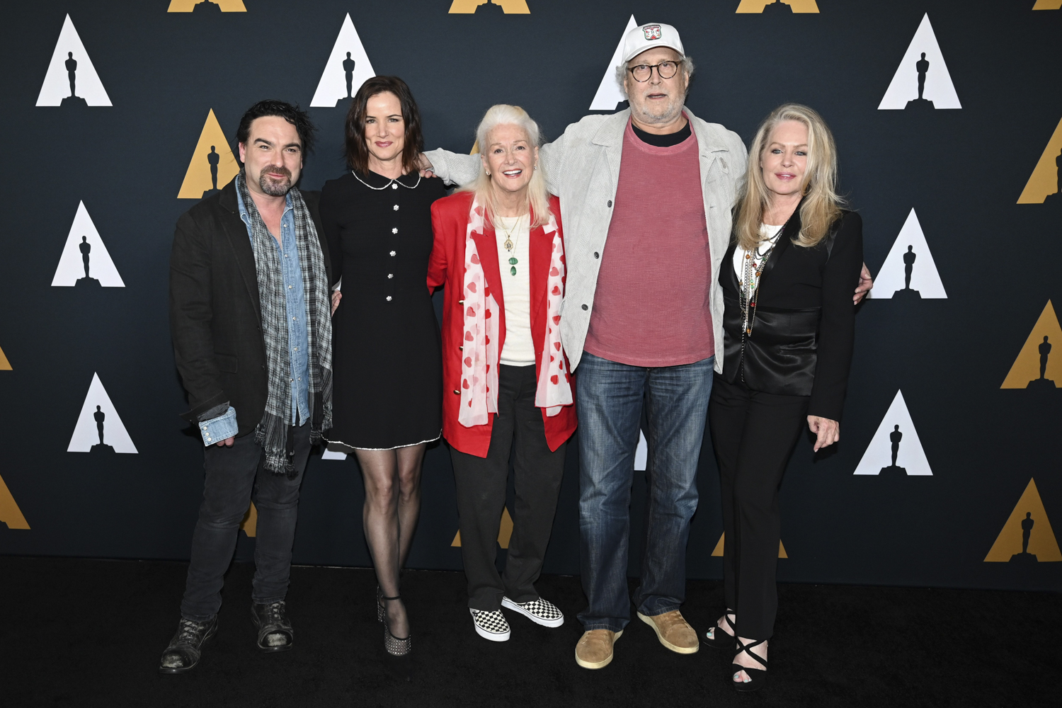 Johnny Galecki, Juliette Lewis, Diane Ladd, Chevy Chase and Beverly D'Angelo