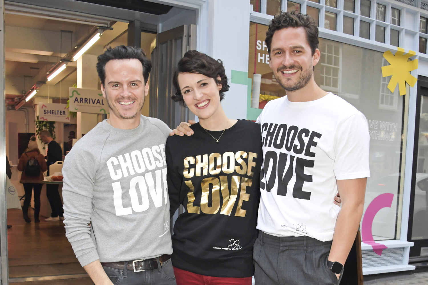 Andrew Scott, Phoebe Waller-Bridge and Ben Aldridge