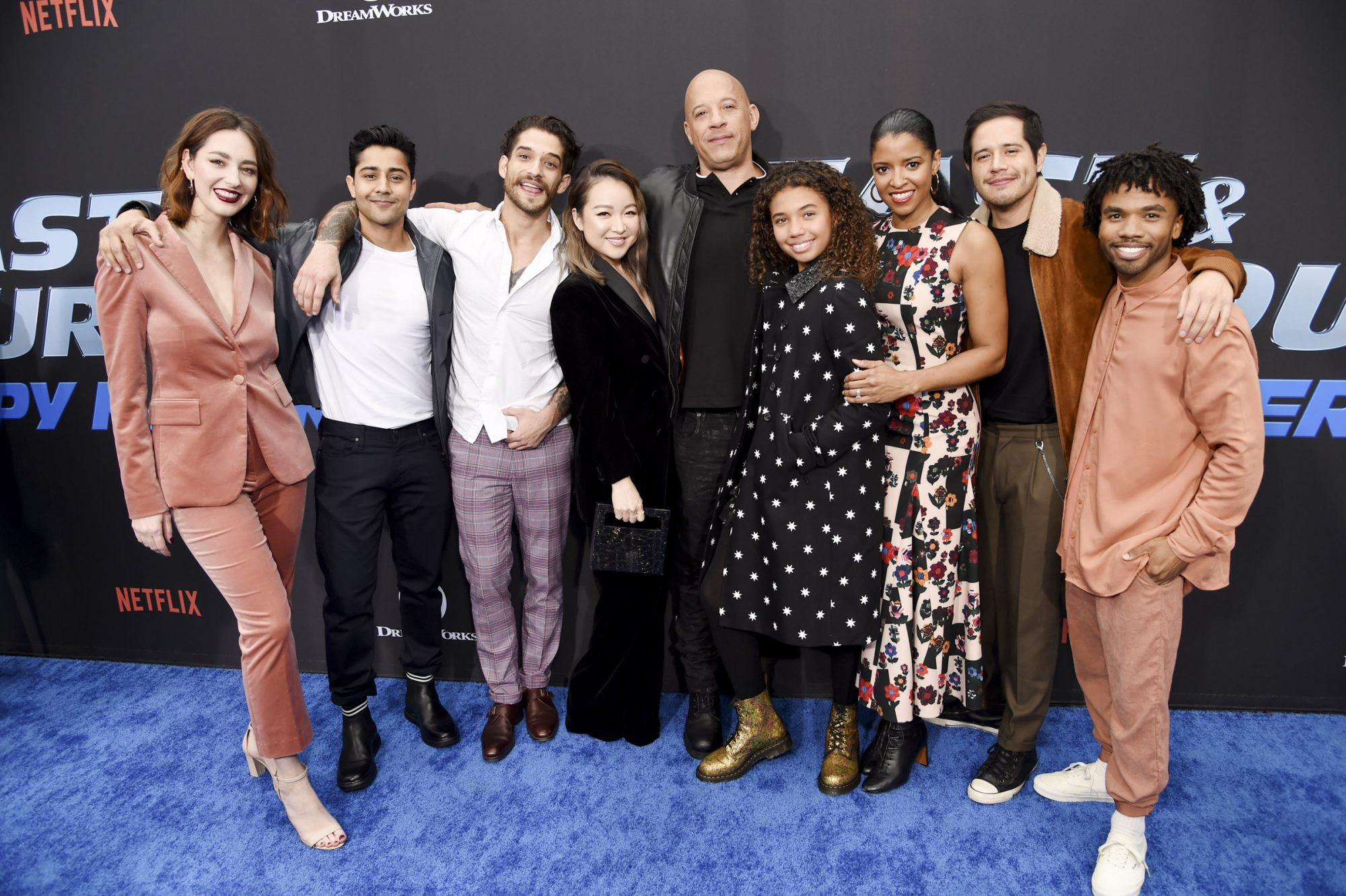 Camille Ramsey, Manish Dayal,Tyler Posey, Charlet Chung, Vin Diesel, Similce Diesel, Renée Elise Goldsberry, Jorge Diaz and Luke Youngblood