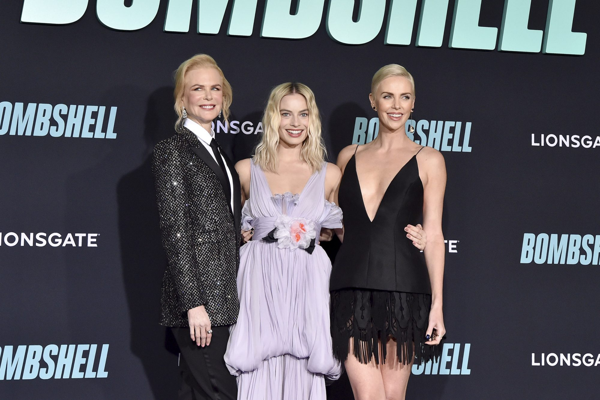 Nicole Kidman, Margot Robbie, and Charlize Theron