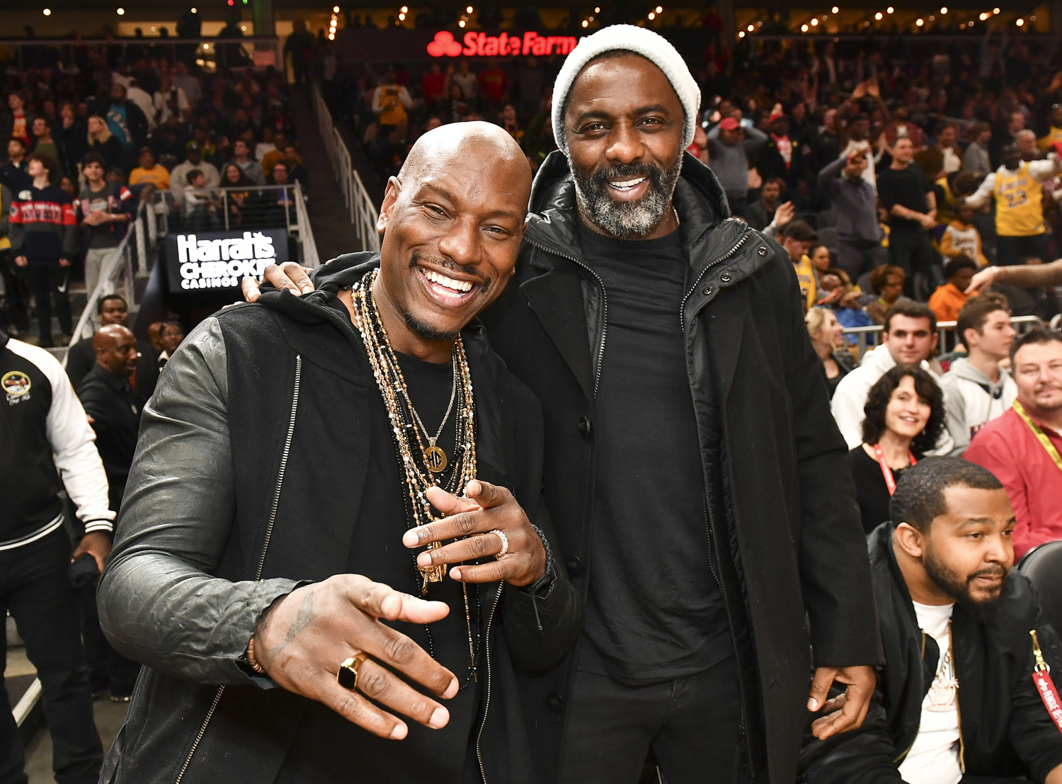 Tyrese Gibson and Idris Elba