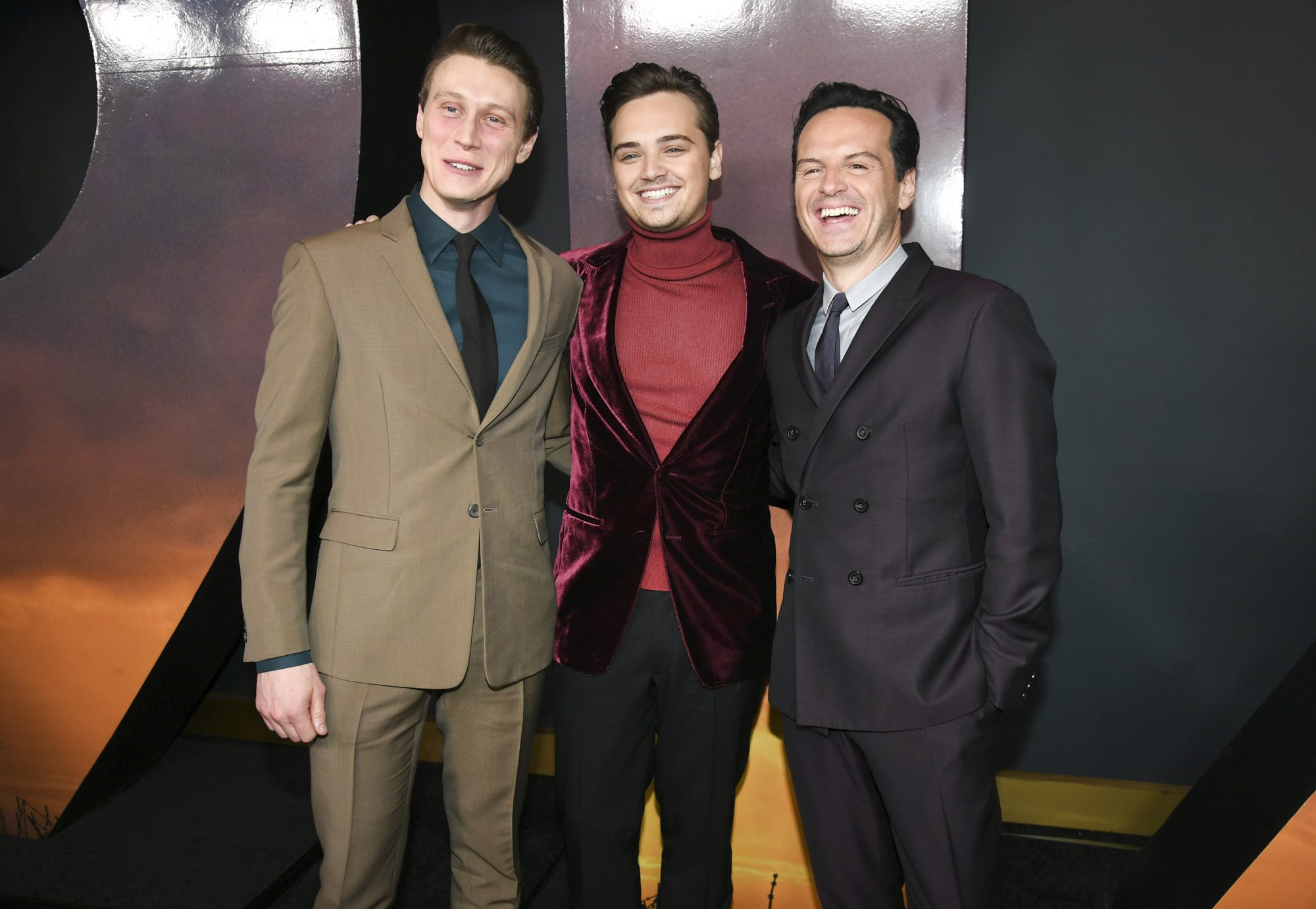 George MacKay, Dean-Charles Chapman and Actor Andrew Scott