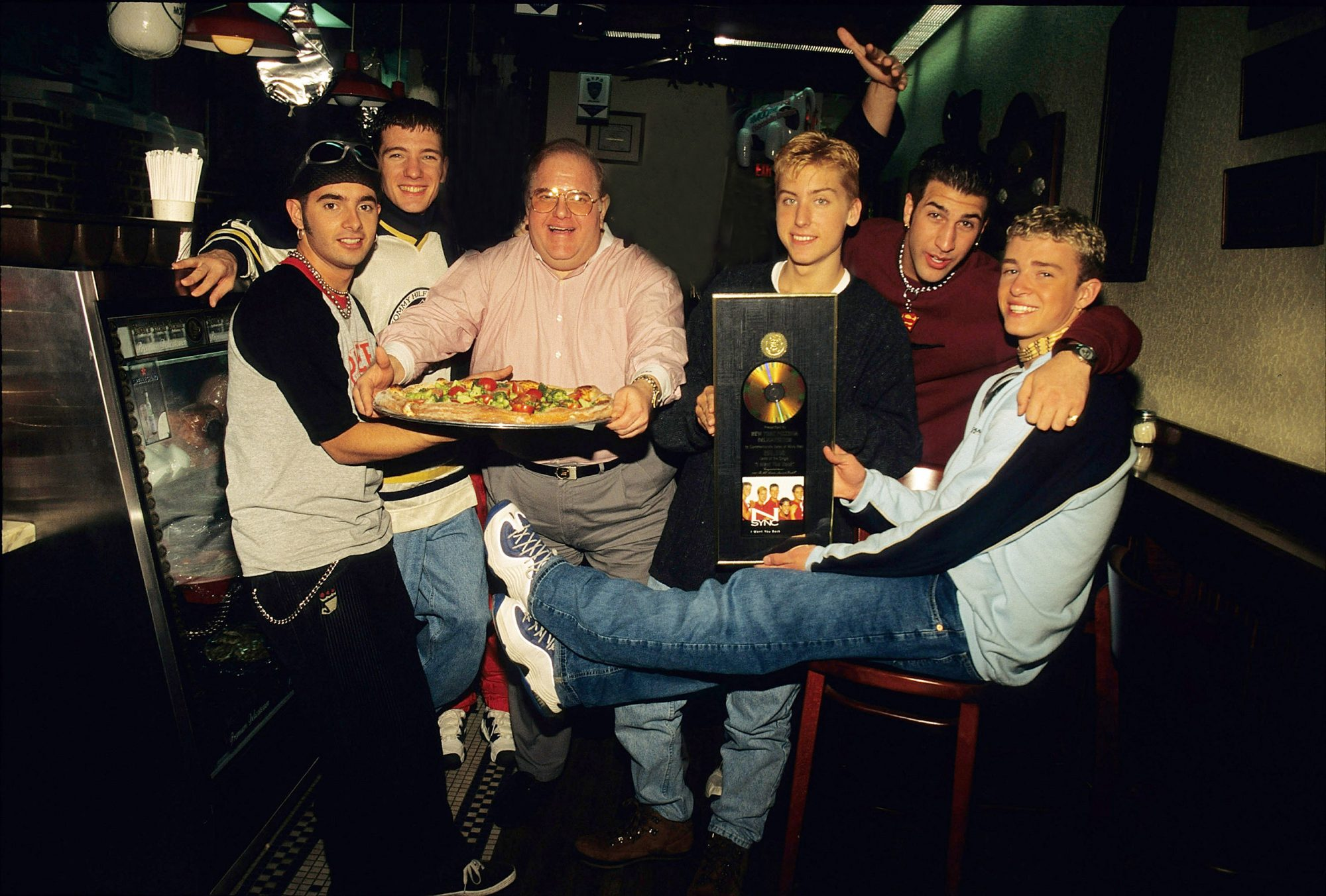Lou Pearlman with N'Sync - 1996