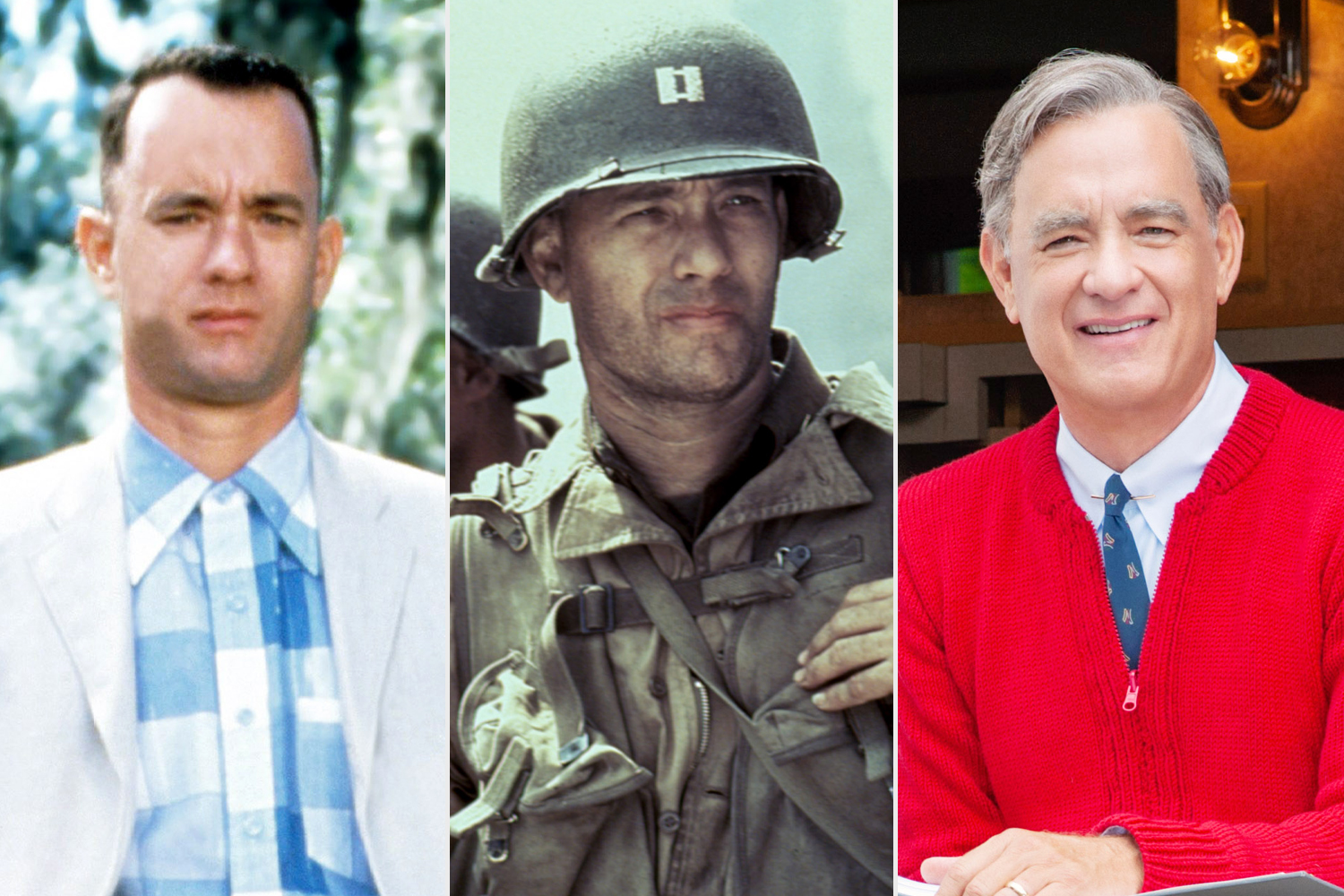 FORREST GUMP; SAVING PRIVATE RYAN; A BEAUTIFUL DAY IN THE NEIGHBORHOOD,