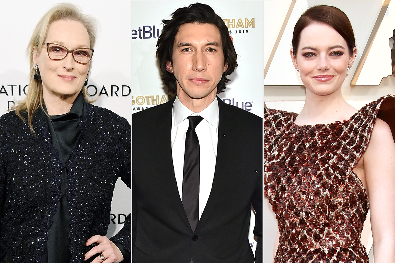 Meryl Streep; Adam Driver; Emma Stone
