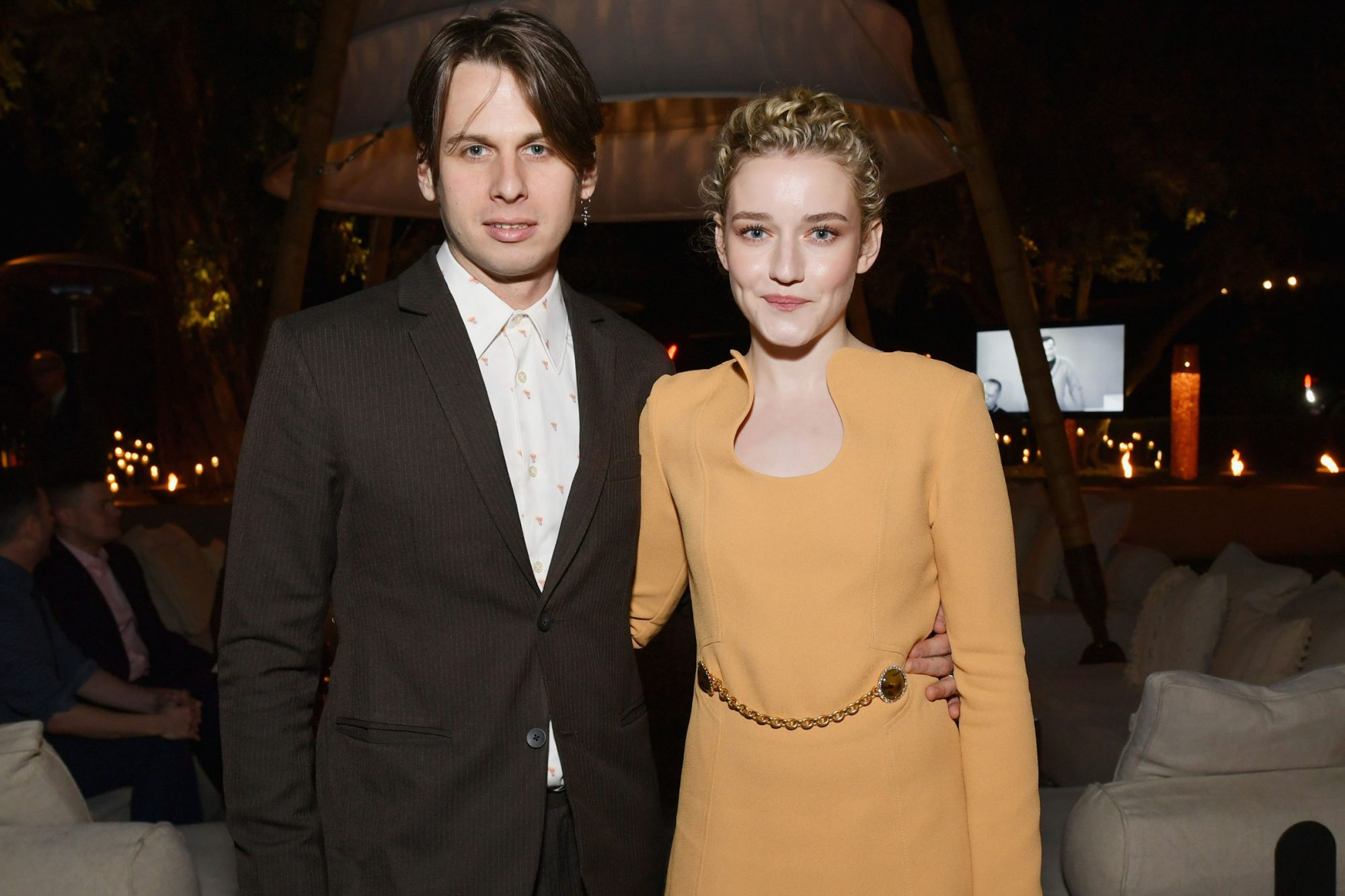 Julia Garner (R) and Mark Foster
