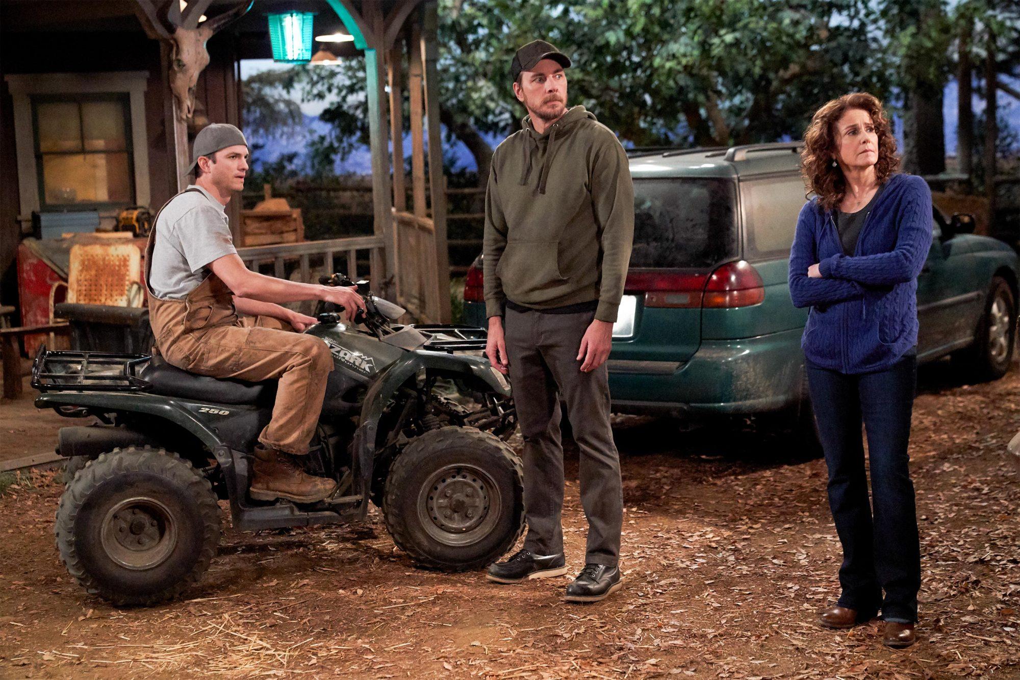 The Ranch SEASON Part 6 EPISODE 17 PHOTO CREDIT Greg Gaynei / Netflix PICTURED Ashton Kutcher, Dax Shepard, Debra Winger