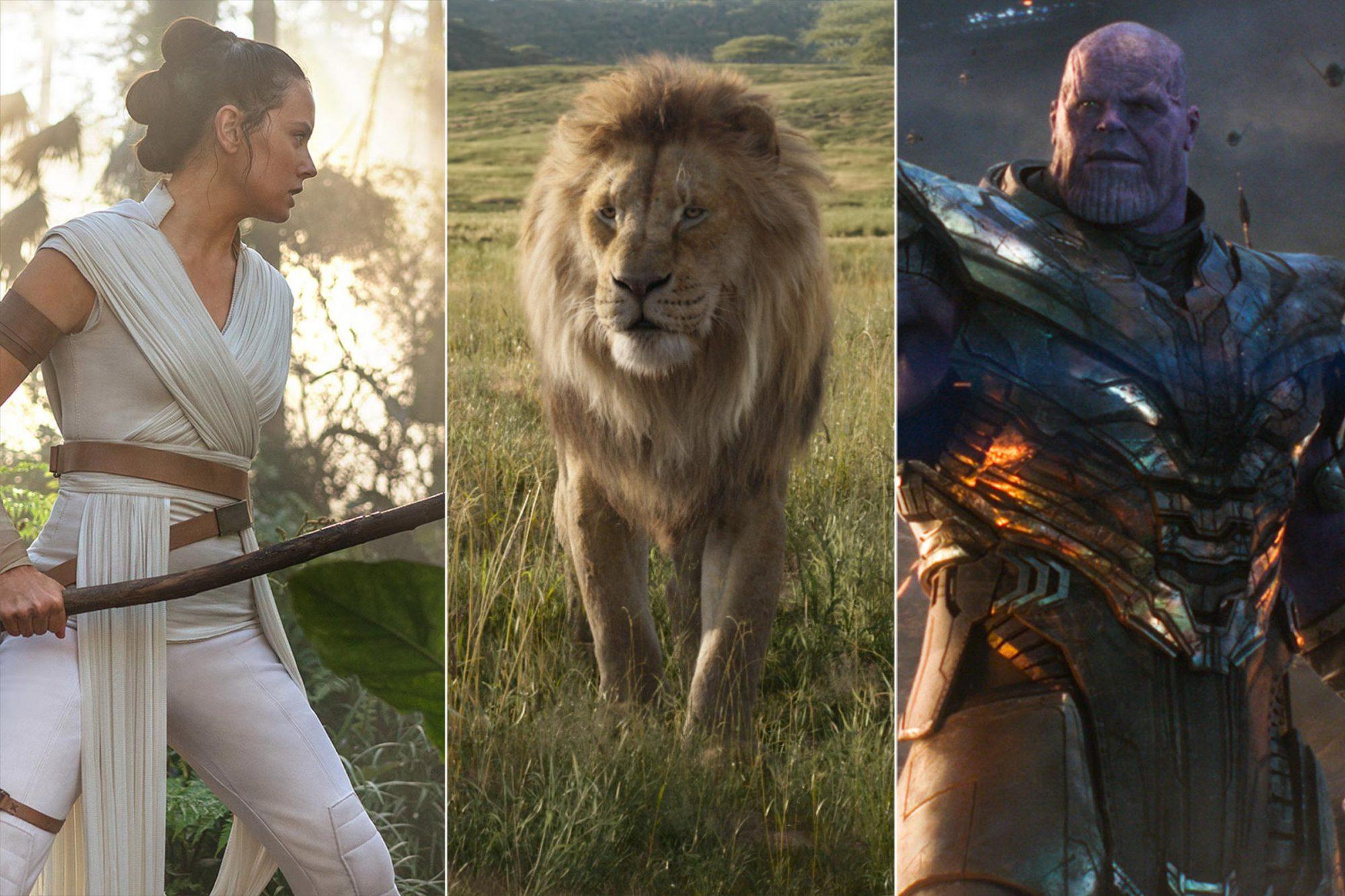 Star Wars: The Rise of Skywalker / The Lion King / Avengers: Endgame