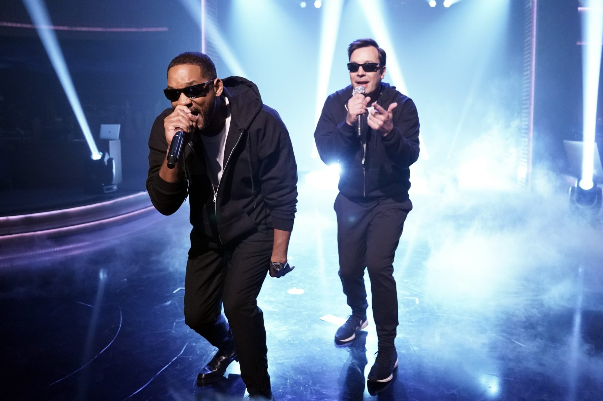 Will Smith and host Jimmy Fallon
