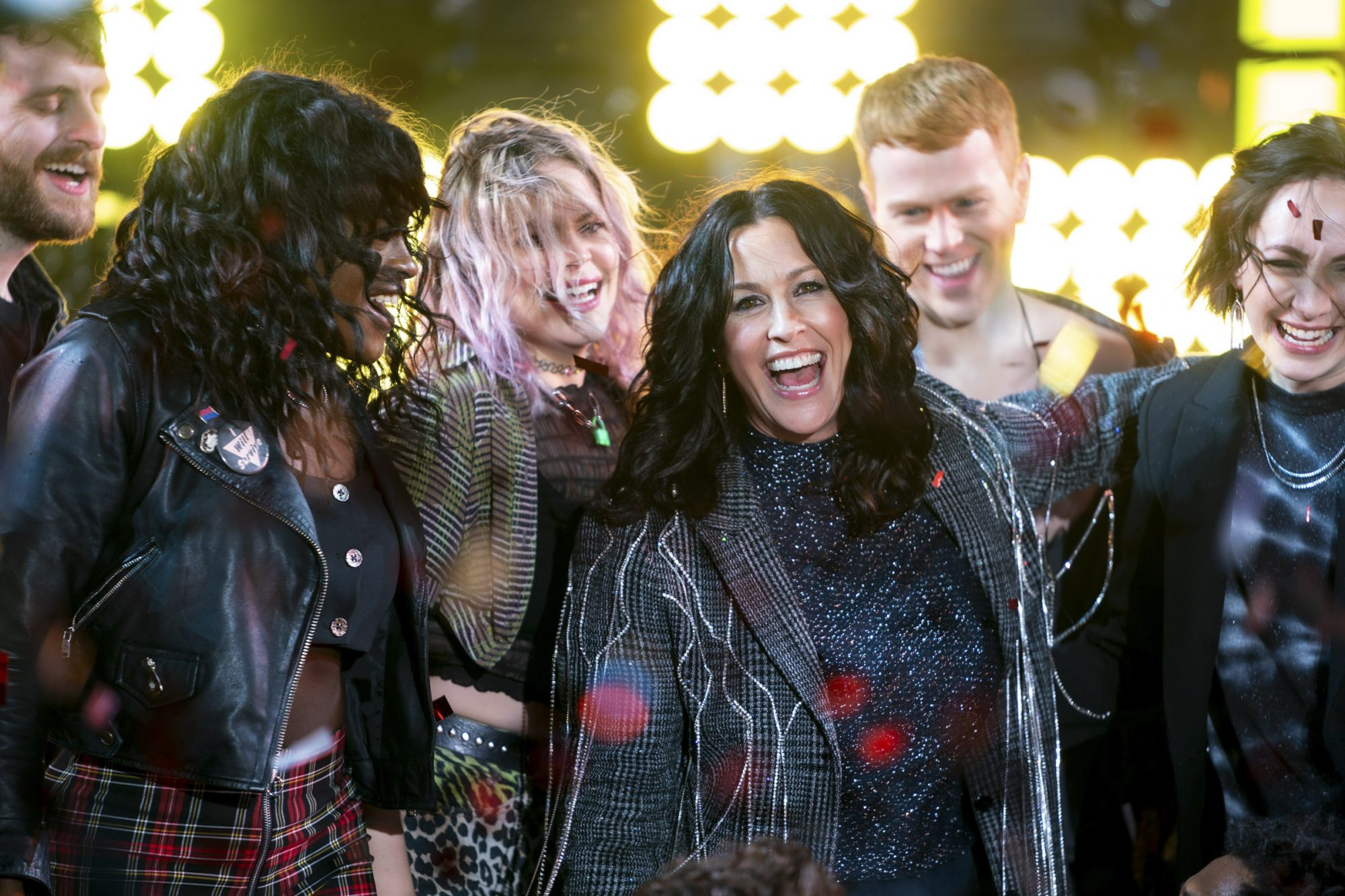 Alanis Morissette and the Jagged Little Pill cast