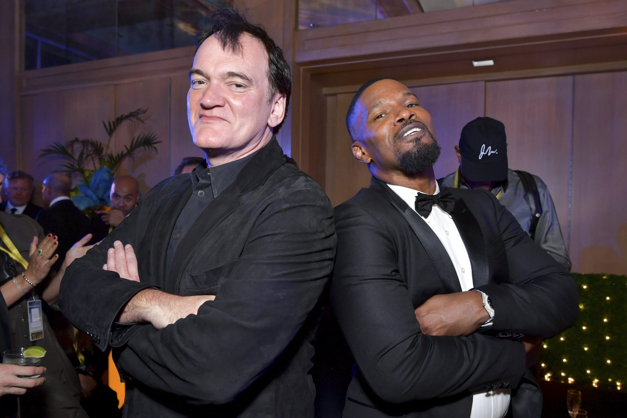 Quentin Tarantino and Jamie Foxx