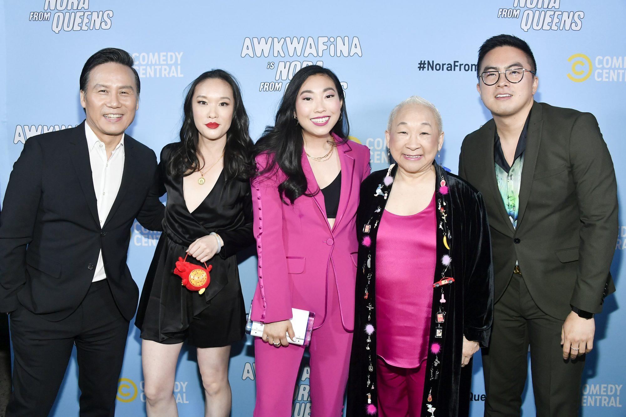 BD Wong, Teresa Hsiao, Awkwafina, Lori Tan Chinn, and Bowen Yang