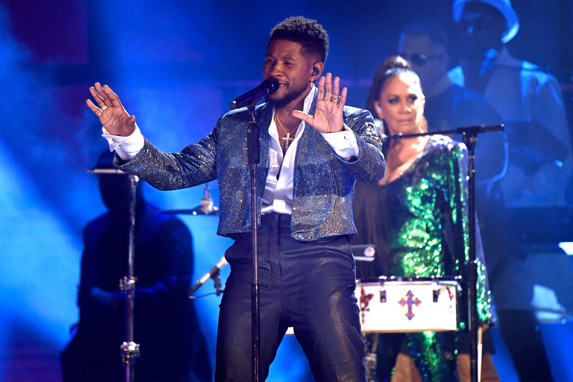 Usher and Sheila E.