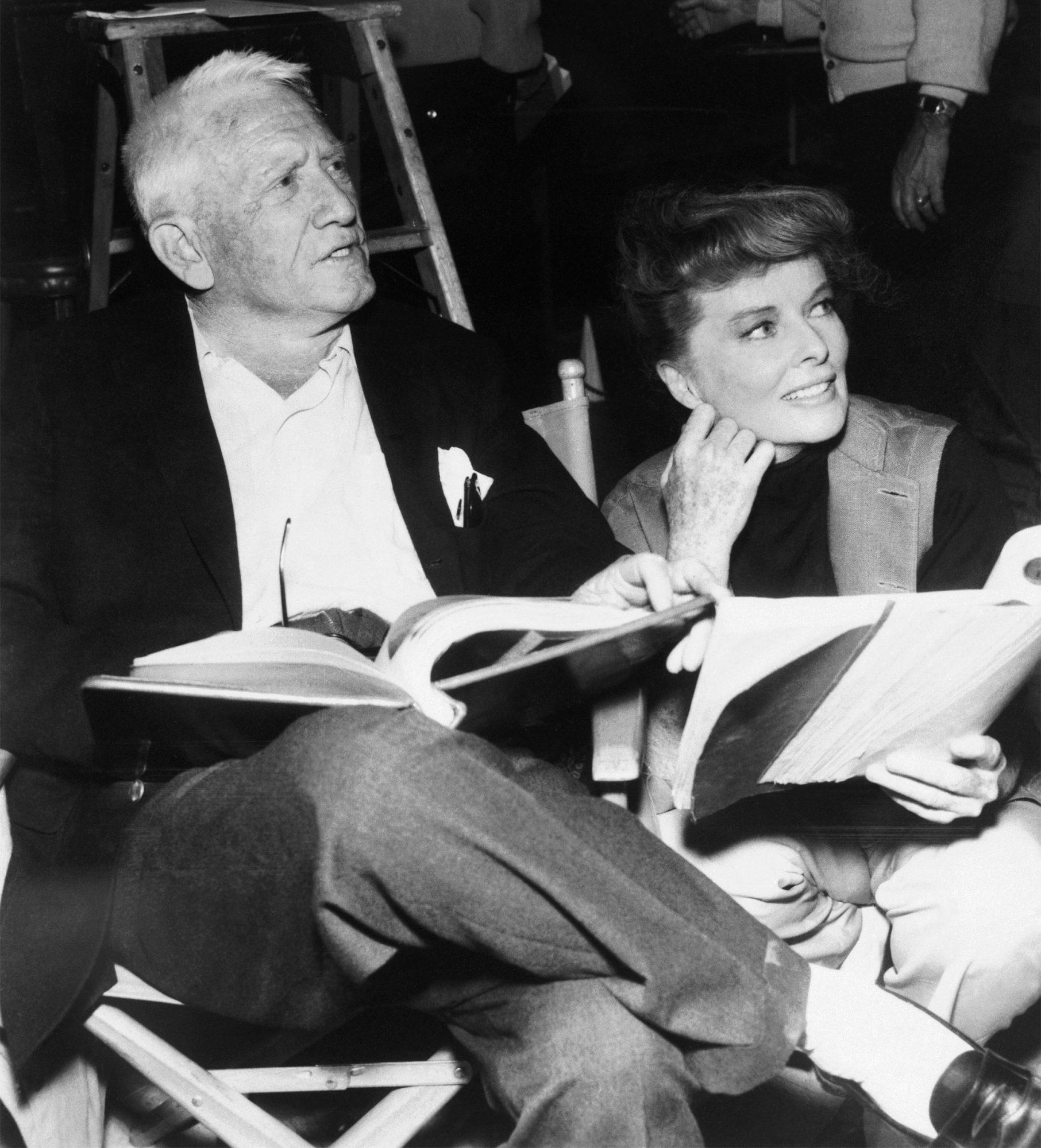 GALLERY: Oscar CouplesKatharine Hepburn with Spencer Tracy on Movie Set