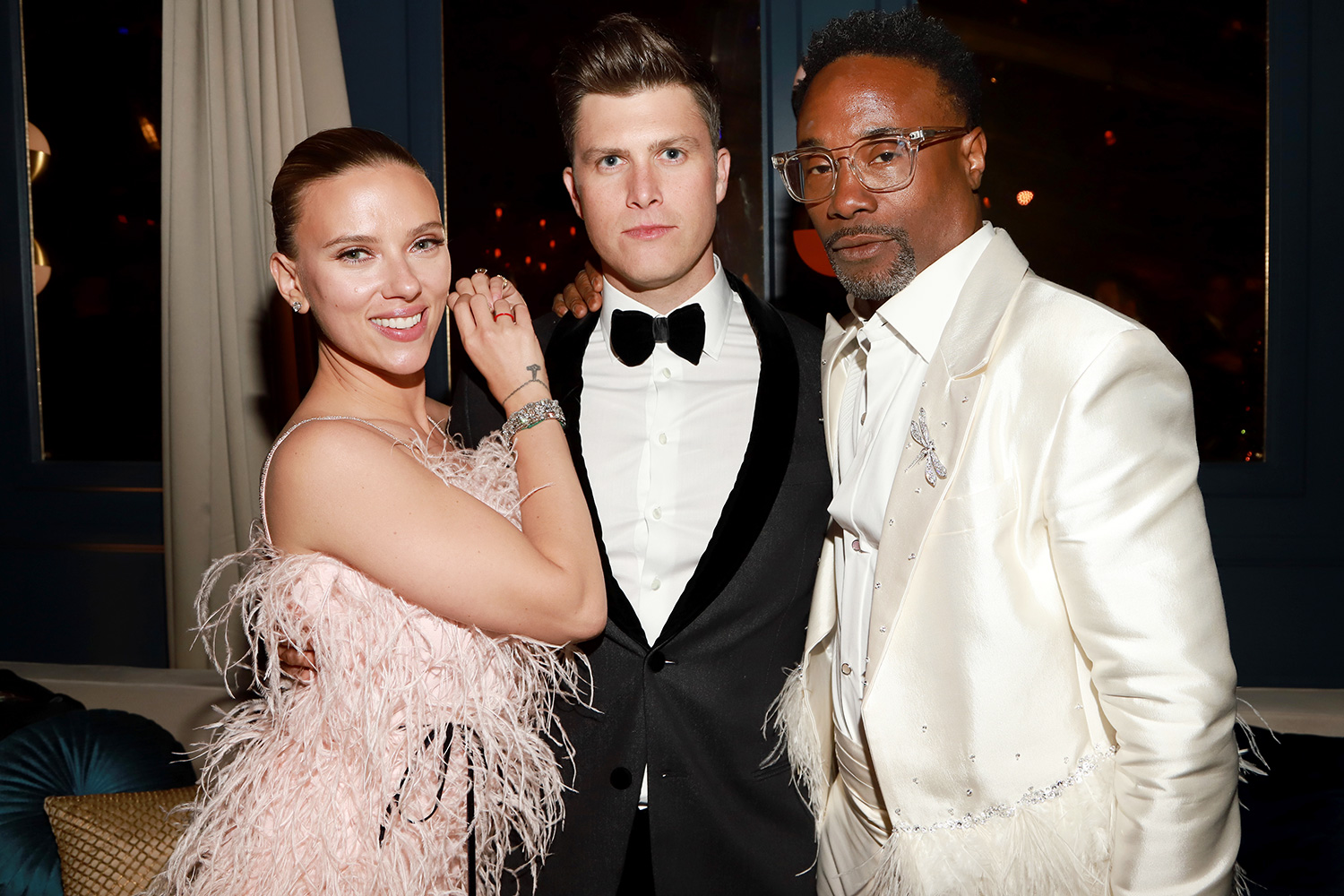Scarlett Johansson, Colin Jost and Billy Porter