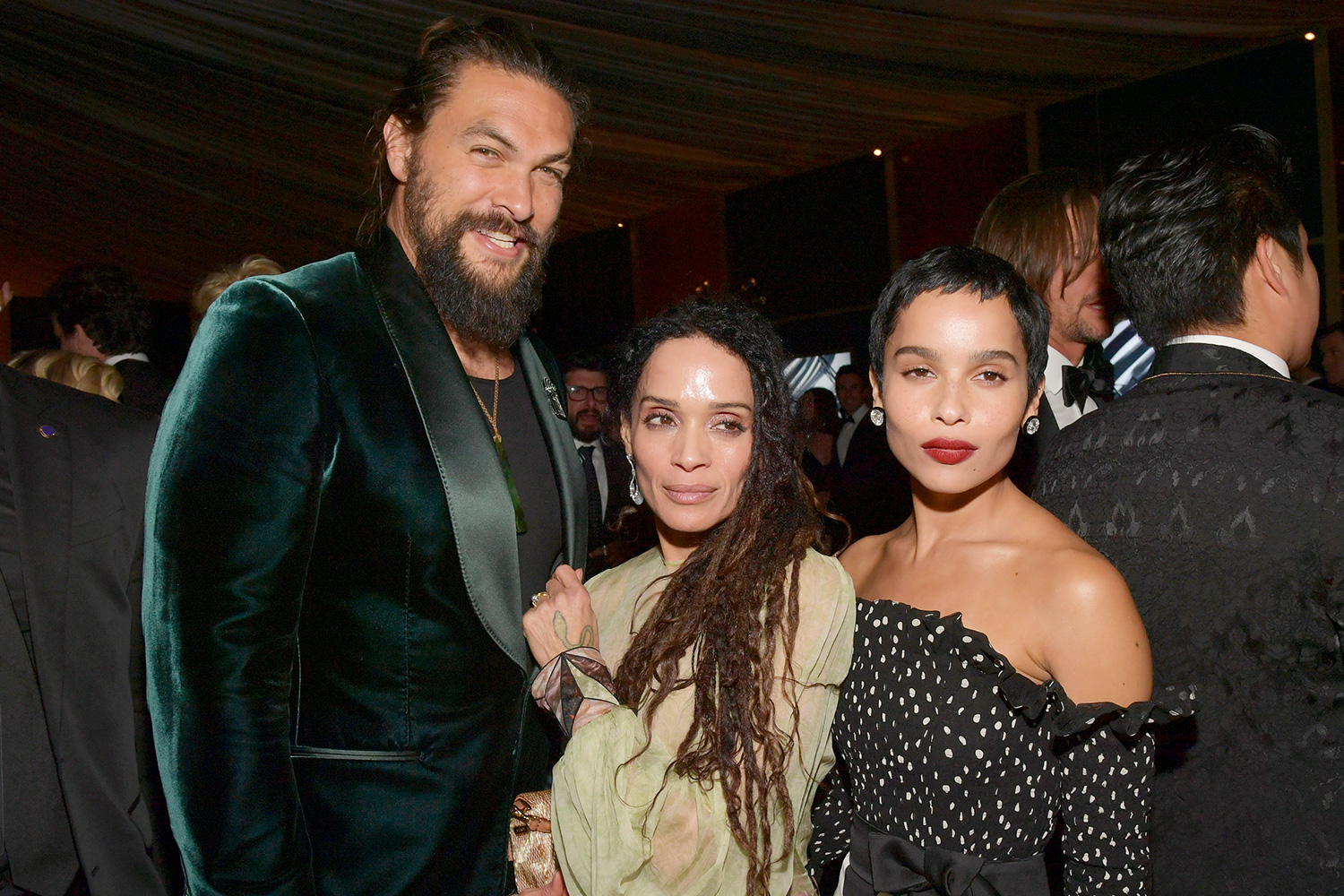 Jason Momoa, Lisa Bonet, and Zoë Kravitz