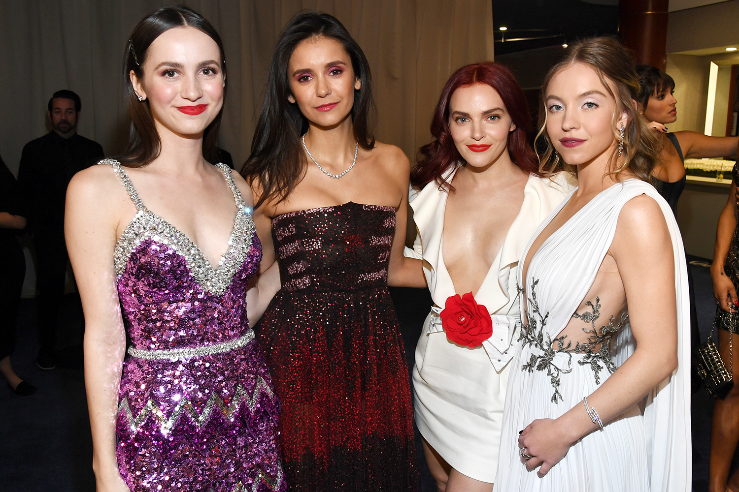 Maude Apatow, Nina Dobrev, Madeline Brewer, and Sydney Sweeney