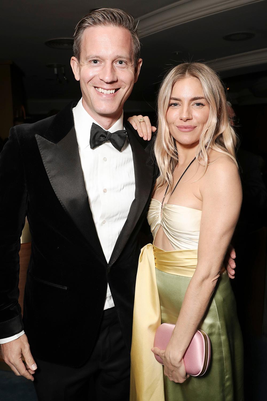 Matt Newman and Sienna Miller