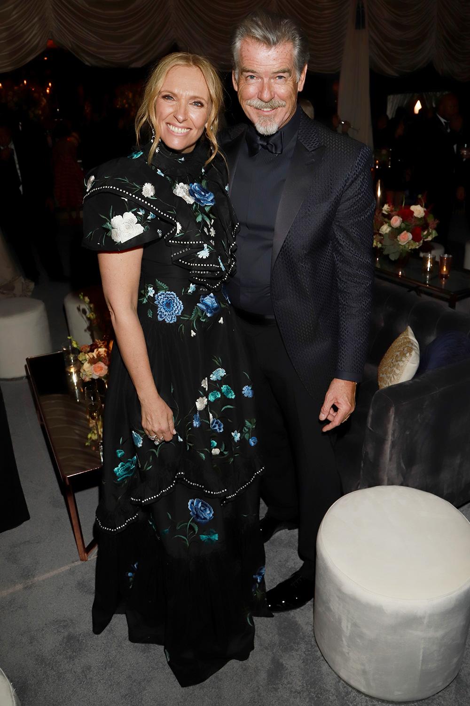 Toni Collette and Pierce Brosnan