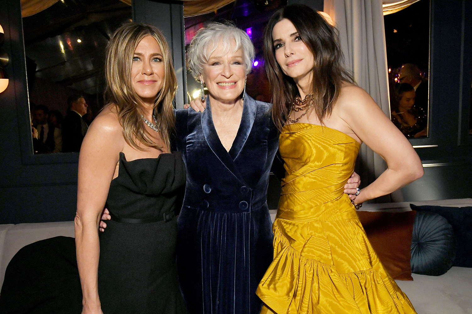 Sandra Bullock, Jennifer Aniston and Glenn Close