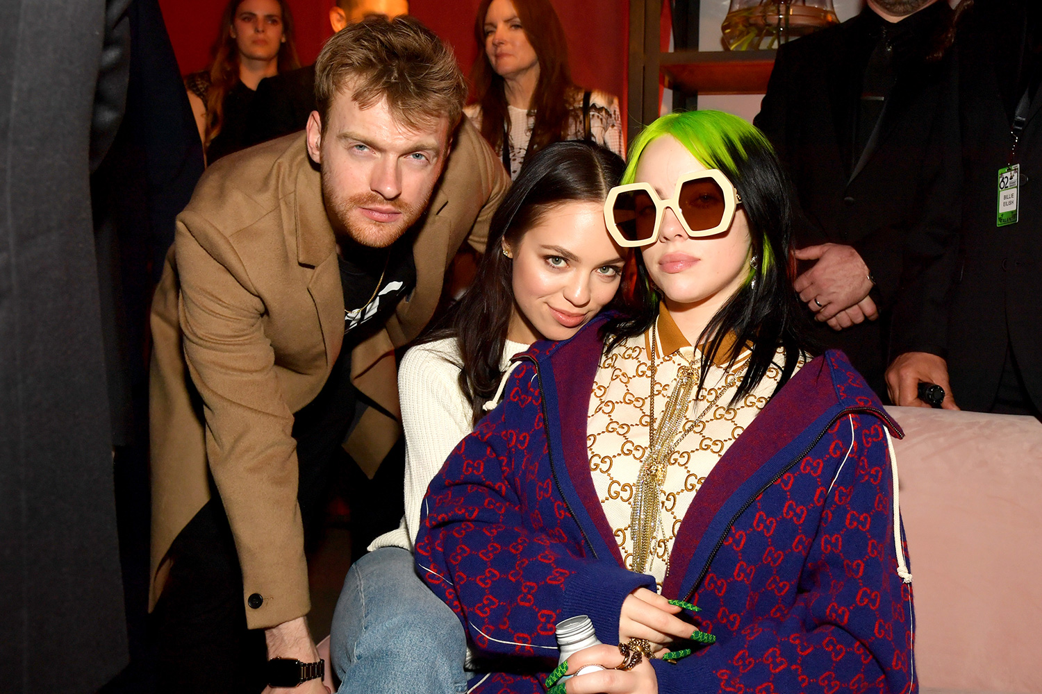 Finneas O'Connell, guest and Billie Eilish