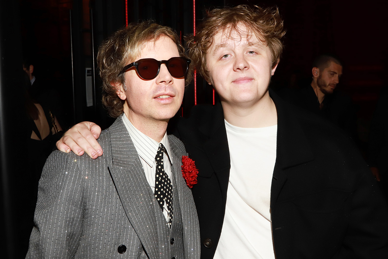 Beck (L) and Lewis Capaldi