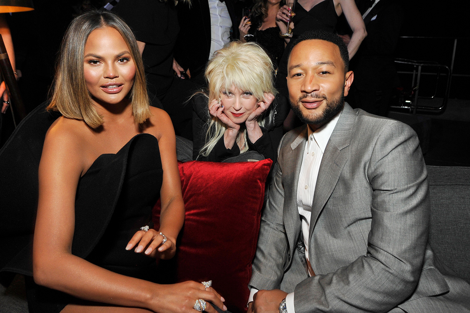 Chrissy Teigen, Cyndi Lauper, and John Legend
