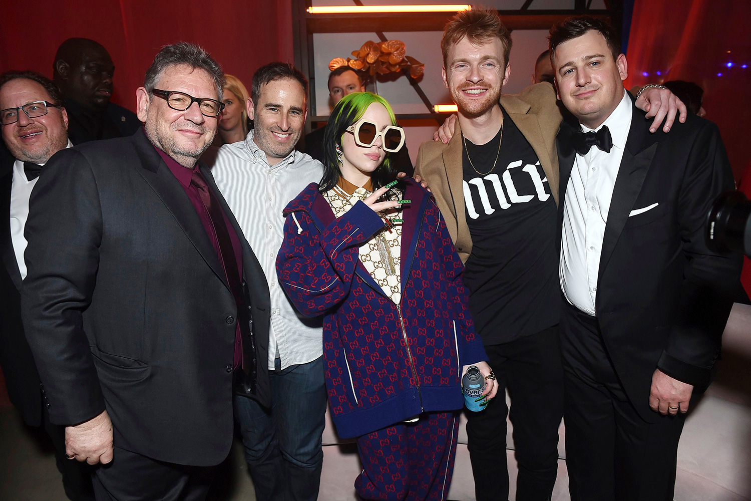Sir Lucian Grainge, Danny Rukasin, Billie Eilish, Finneas O'Connell, Brandon Goodman. Sir Lucian Grainge