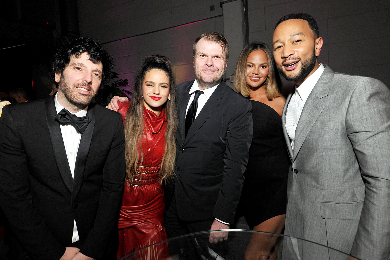 Columbia Chairman & CEO Ron Perry, Rosalía, Sony Music Group Chairman Rob Stringer, Chrissy Teigen, and John Legend