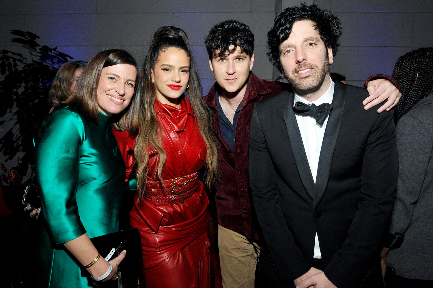 Columbia EVP & GM Jenifer Mallory, Rosalía, Ezra Koenig of Vampire Weekend, and Columbia Chairman & CEO Ron Perry