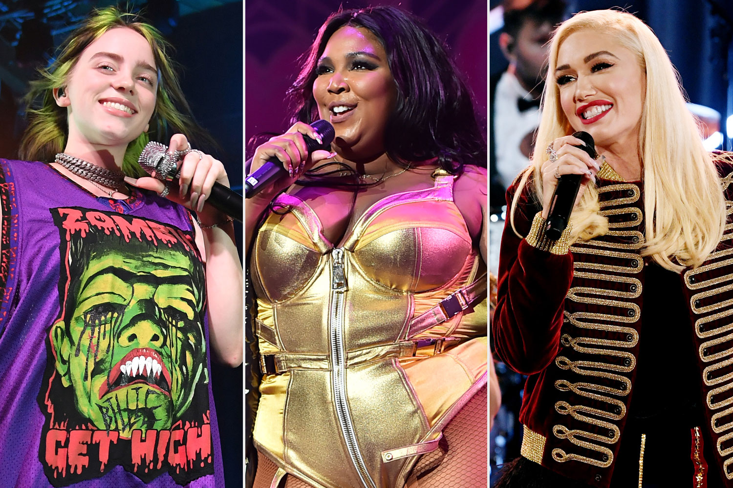 Billie Eilish; Lizzo; Gwen Stefani