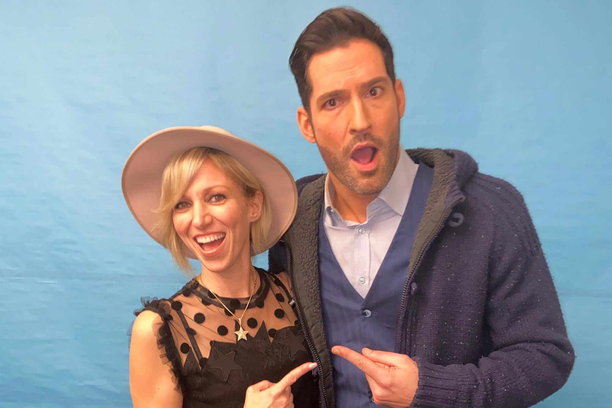 Debbie Gibson and Tom Ellis