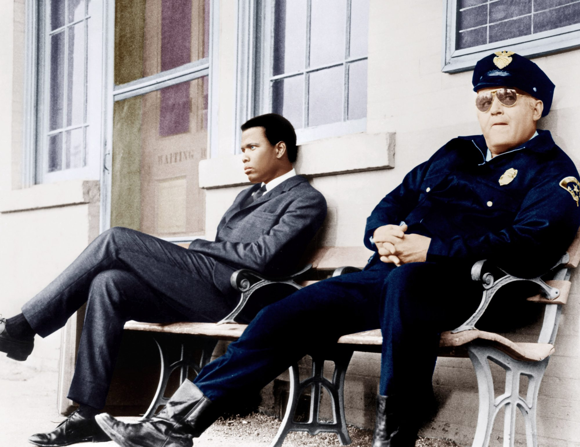 IN THE HEAT OF THE NIGHT, from left: Sidney Poitier, Rod Steiger, 1967
