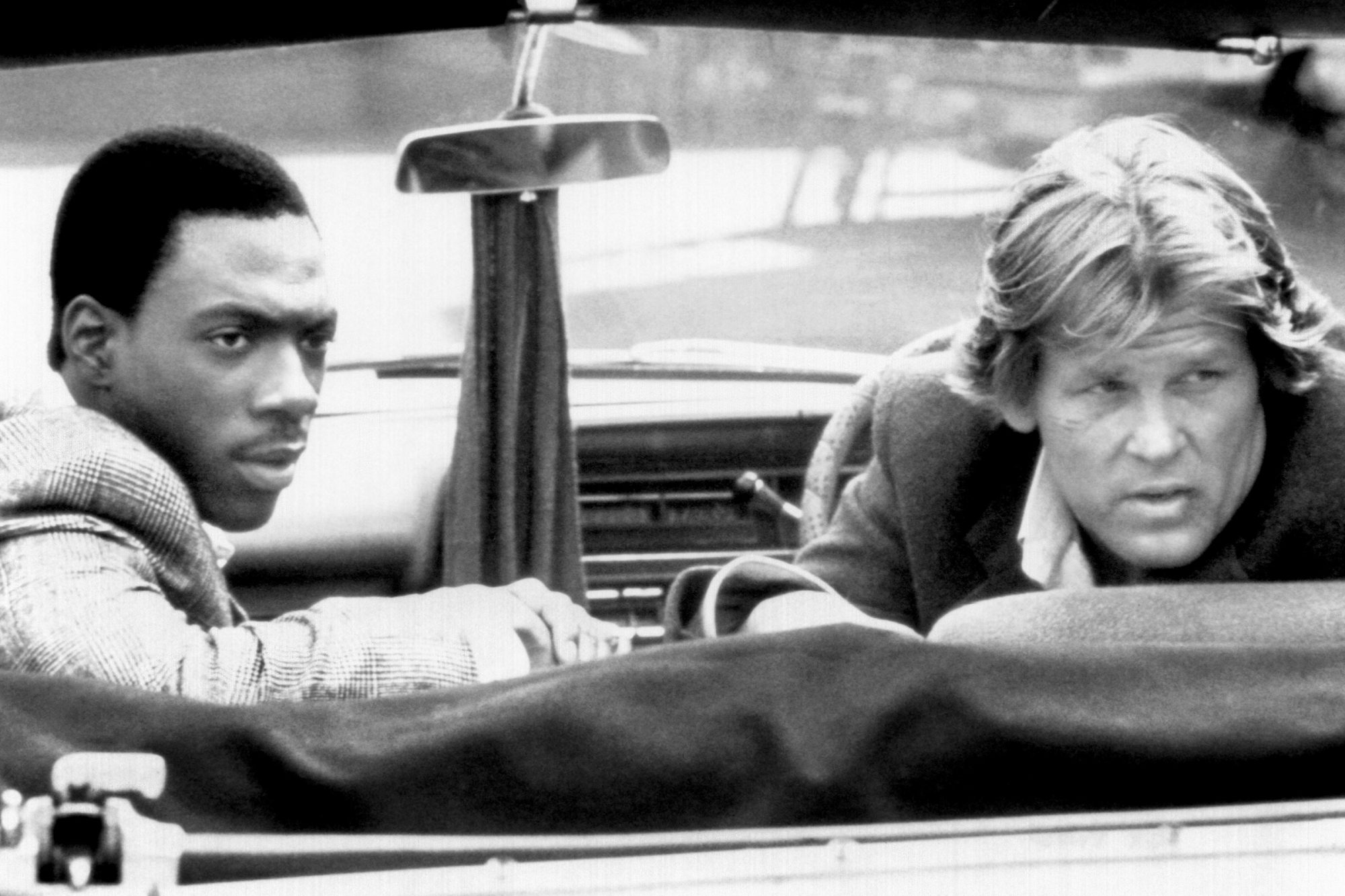48 HOURS, (aka 48 HRS.), from left, Eddie Murphy, Nick Nolte, 1982, ©Paramount Pictures/Courtesy: Ev