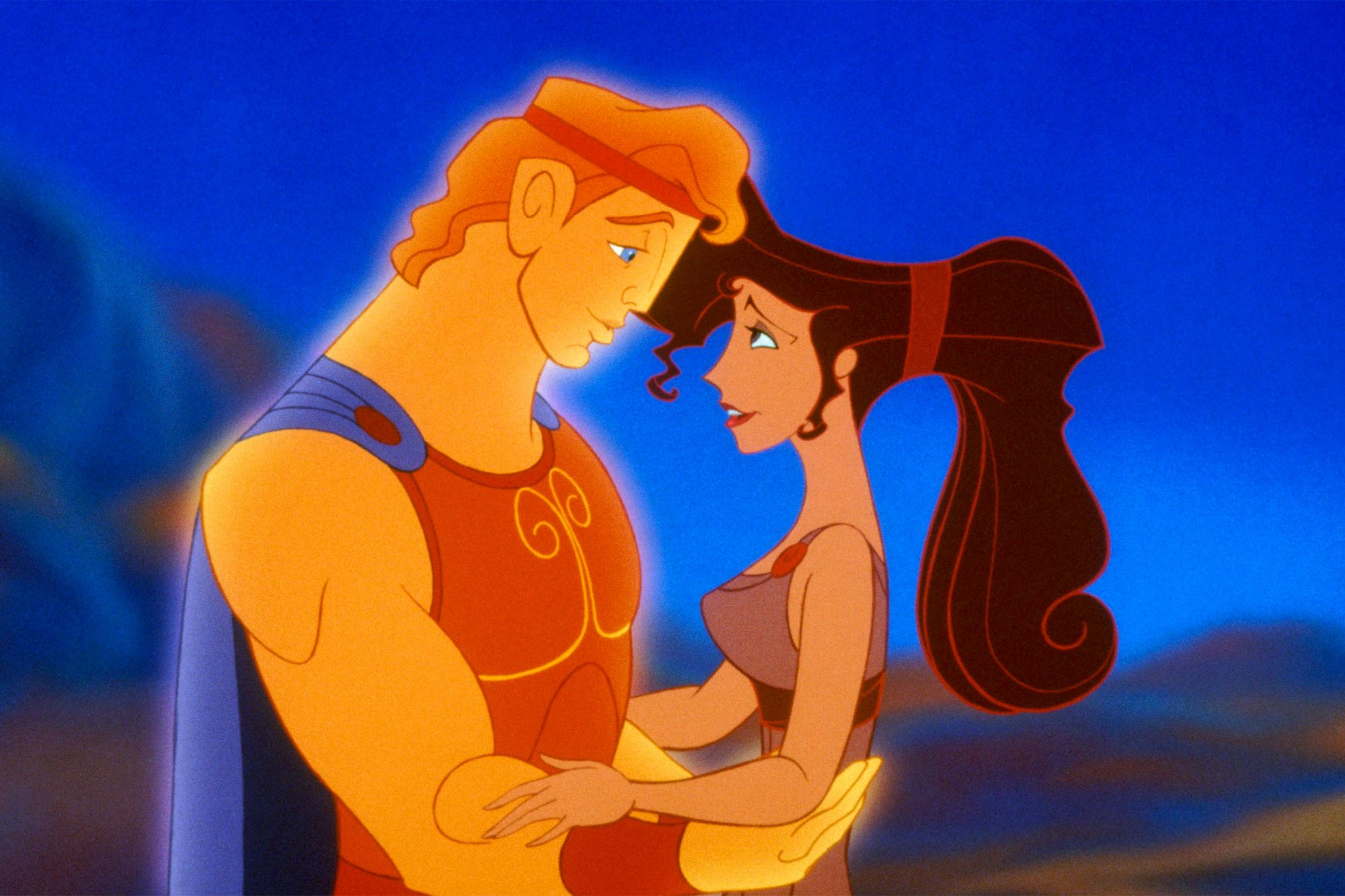 HERCULES, from left: Hercules, Megara, 1997, ©Walt Disney Pictures/courtesy Everett Collection