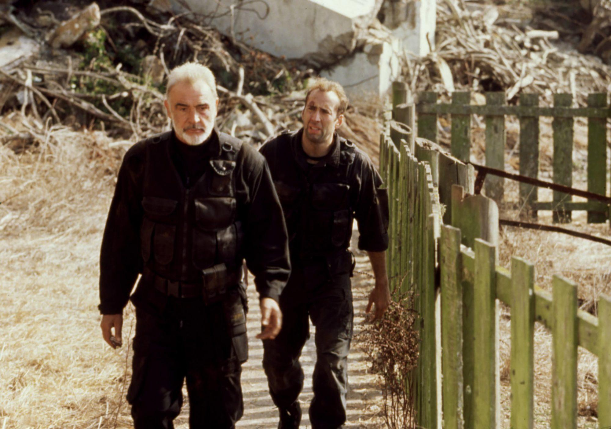 THE ROCK, Sean Connery, Nicolas Cage, 1996(c) Buena Vista Pictures/ Courtesy: Everett Collection.