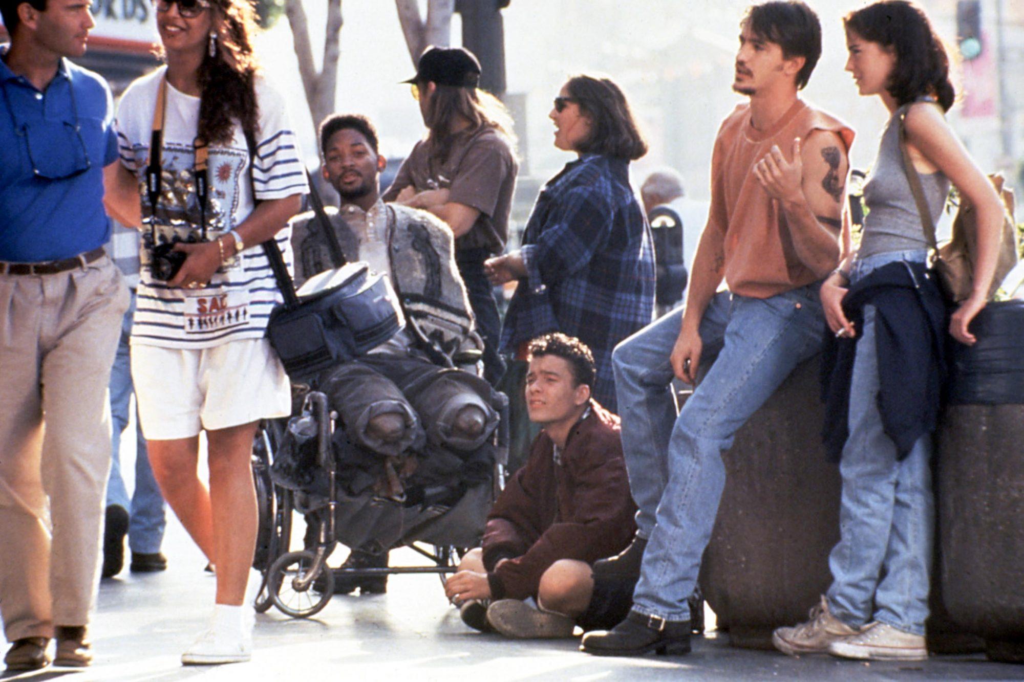 WHERE THE DAY TAKES YOU, Smith, LeGros, Lake, Getty, Mulroney, Boyle, 1992, wheelchair