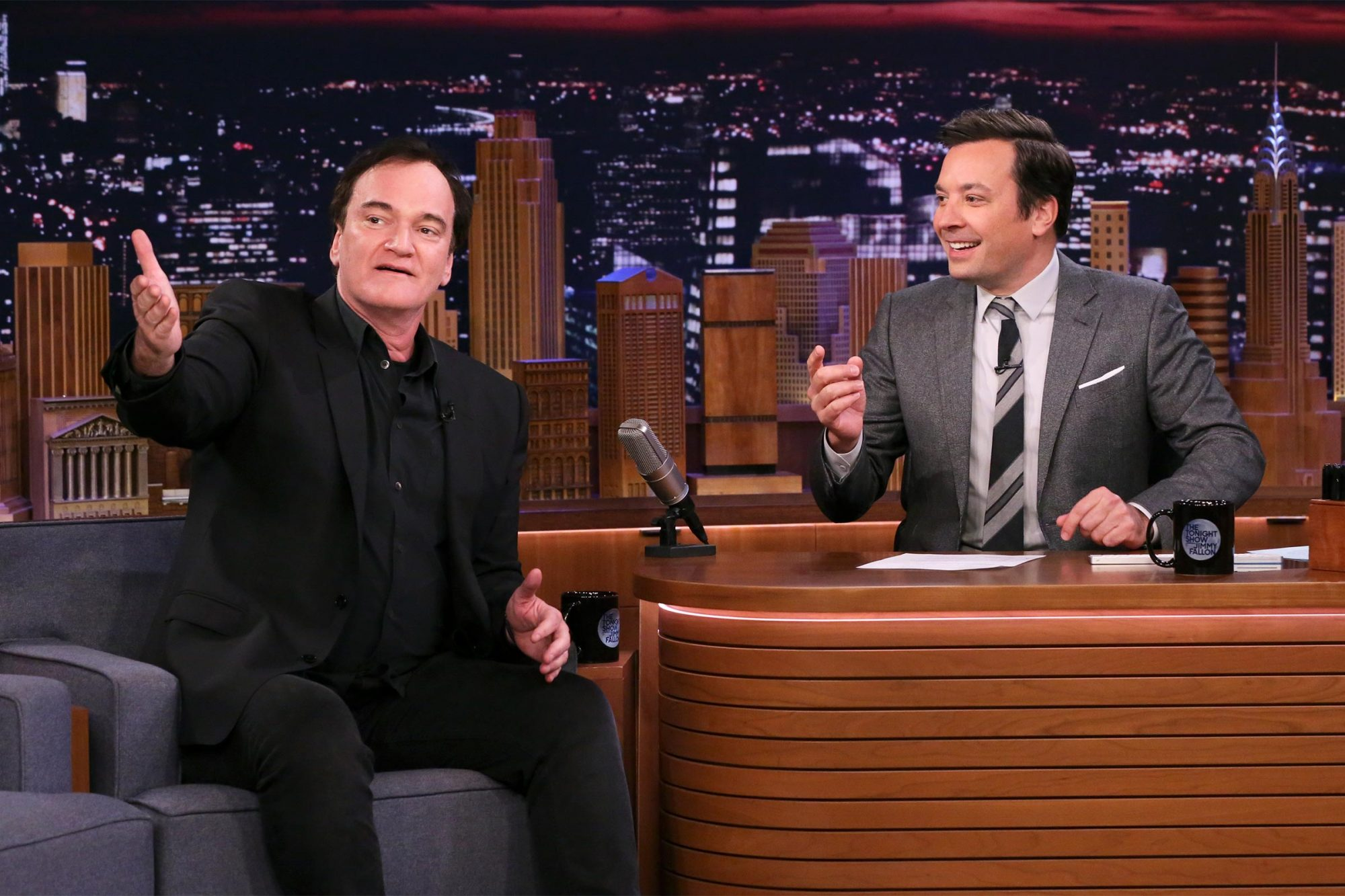 Quentin Tarantino and Jimmy Fallon