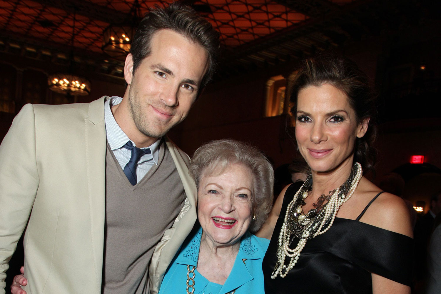 Ryan Reynolds, Betty White and Sandra Bullock