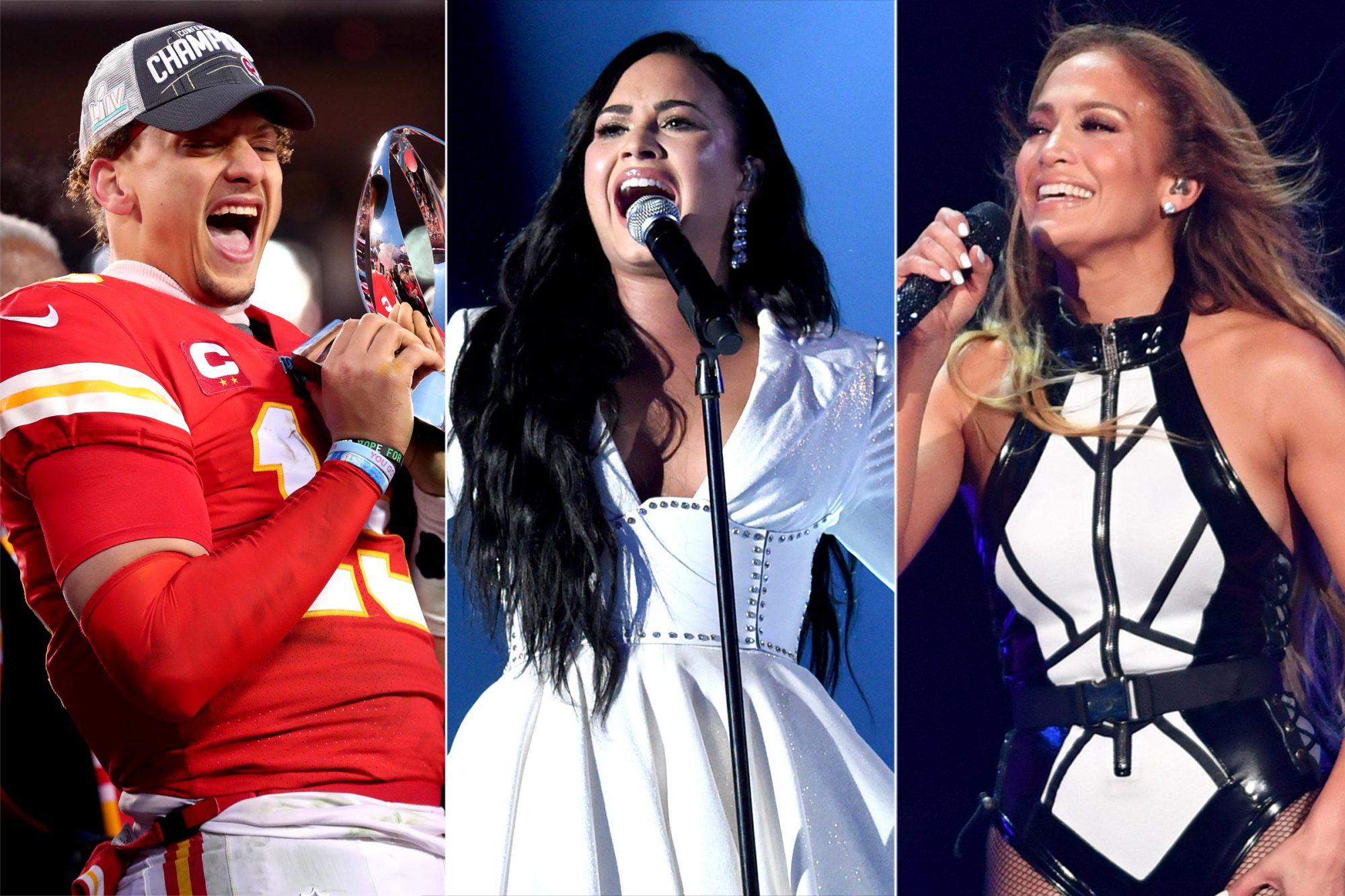 Patrick Mahomes / Demi Lovato / Jennifer Lopez