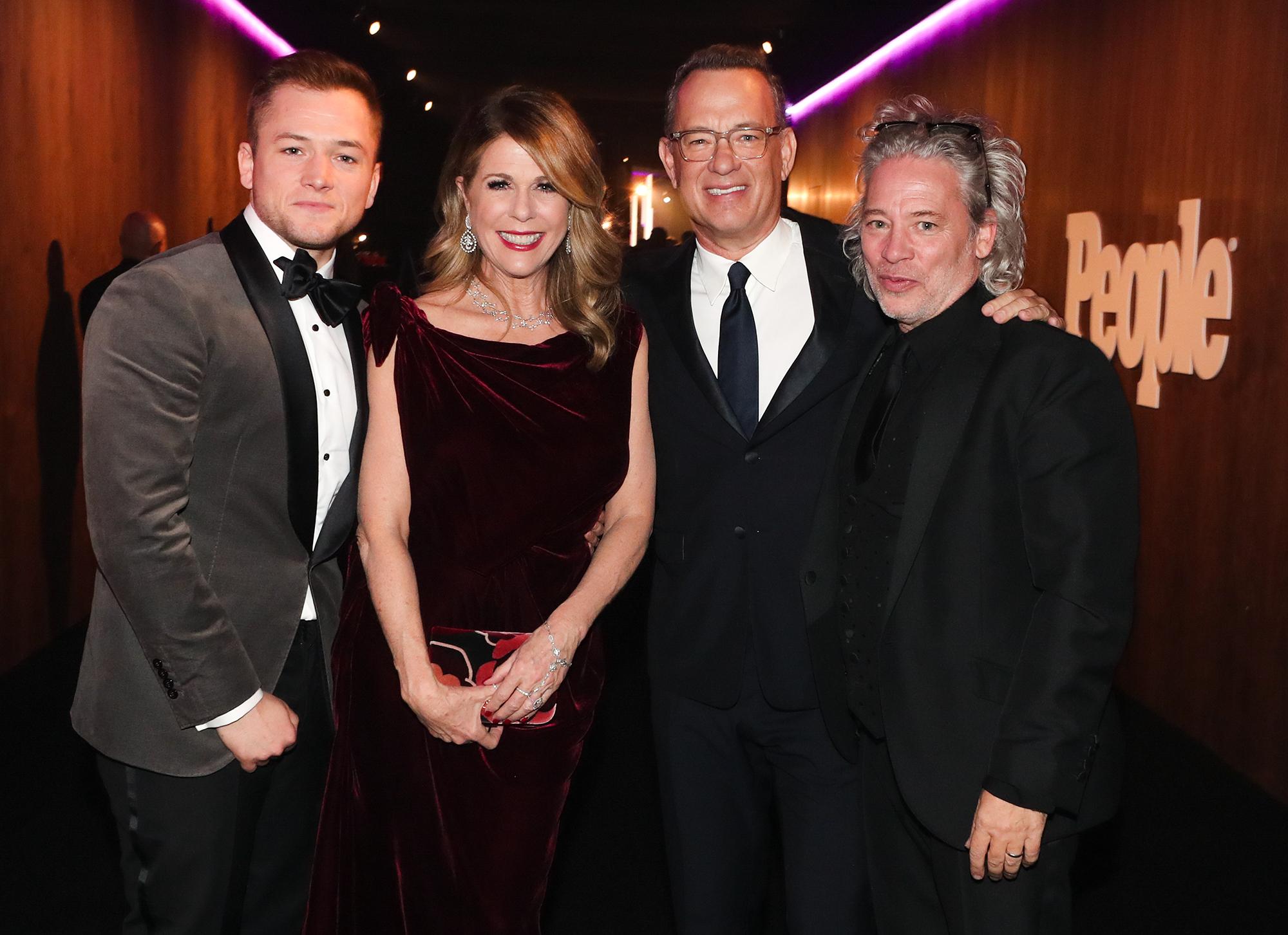 Taron Egerton, Rita Wilson, Tom Hanks and Dexter Fletcher