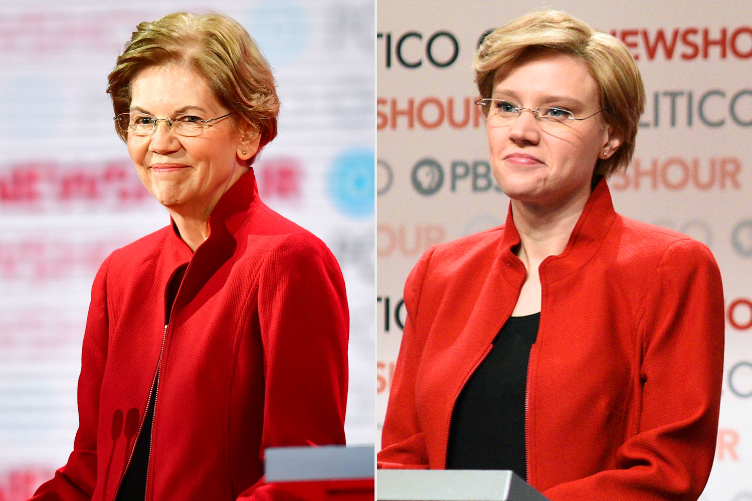 Elizabeth Warren; Kate McKinnon