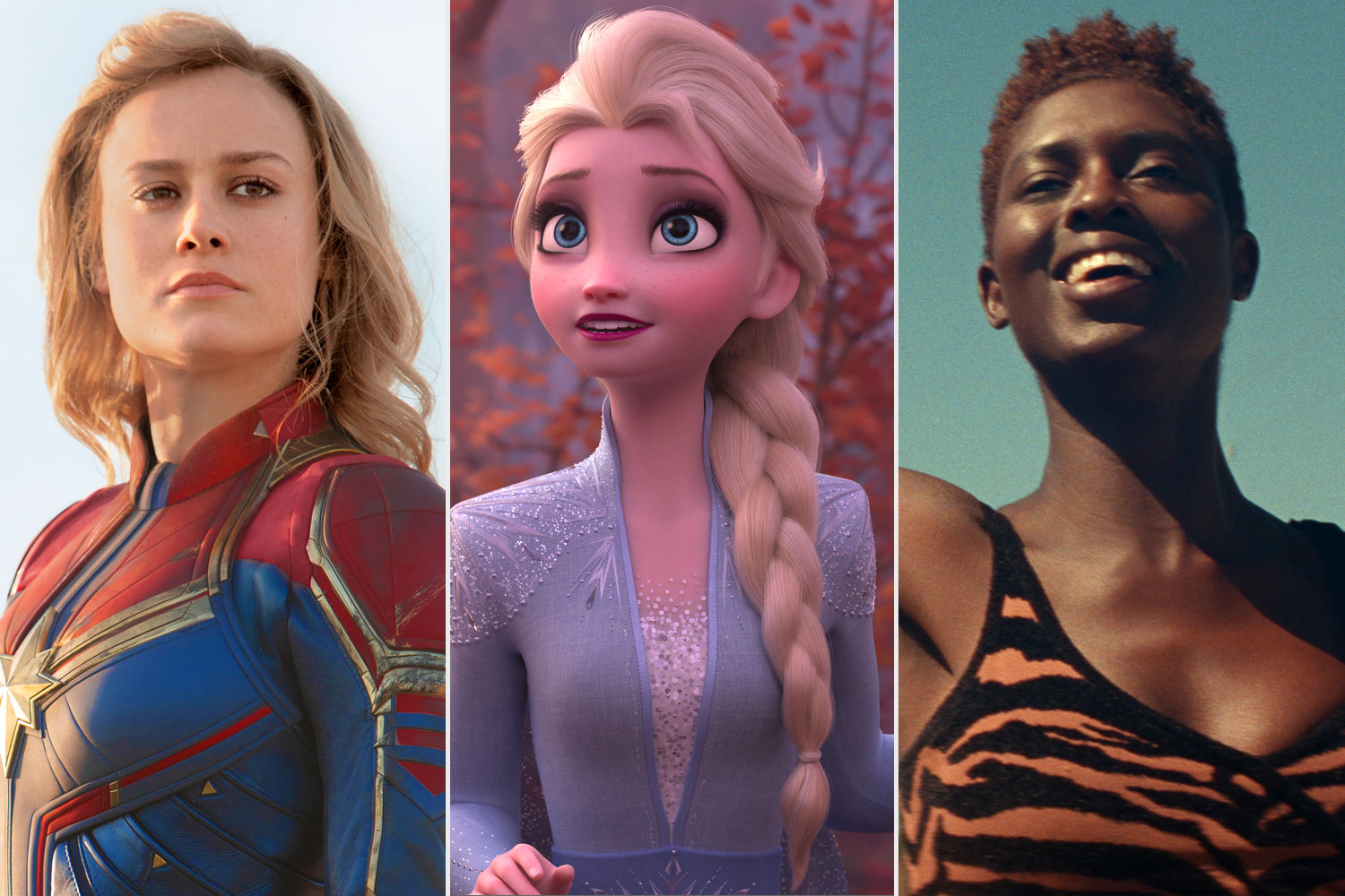 Captain Marvel; Frozen 2; Queen and Slim