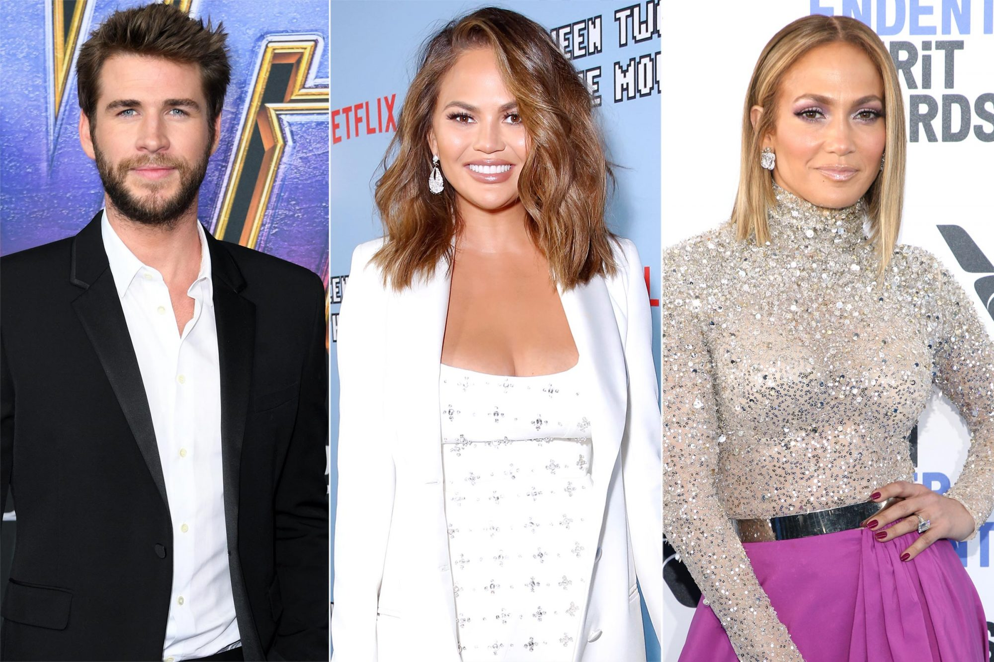 Liam Hemsworth, Chrissy Teigen, Jennifer Lopez