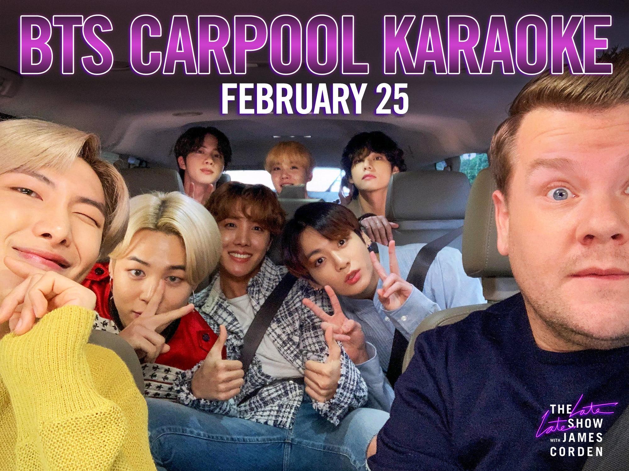 Carpool Karoake Christmas 2020 James Corden BTS is going to do Carpool Karaoke with James Corden | EW.com